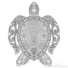 coloring pages tattoos drawing zentangle turtle for coloring page shirt design effect