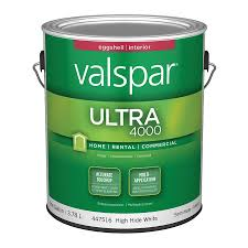 shop valspar ultra 4000 high hide white eggshell latex interior