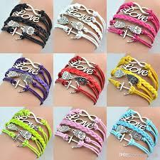 love braided bracelet images New hot infinity bracelets antique charm love owl anchor infinity jpg