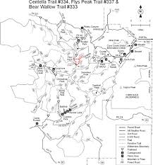 mt lemmon hiking trails map coronado national forest wallow trail 333