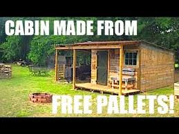 How To Build A Shed Out Of Wooden Pallets by This Tiny House Cabin Was Made From Free Pallets Youtube