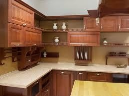 custon cherry wood with dark brown cabinet in kitchen design with