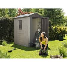 Keter Plastic Decorating 4 X 3 Plastic Horizontal Keter Shed For Outdoor