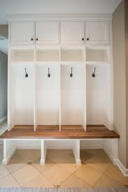 custom built mudroom lockers with upper cabinets solid maple laundry and mudroom millwork