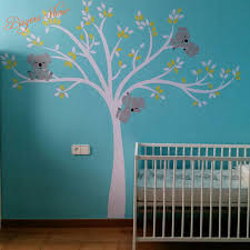 Wall Decor Stickers For Nursery Oversized Large Koalas Tree Vinyl Wall Sticker For Room Decor
