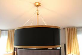 sheer serendipity diy drum shade chandelier gold chandelier