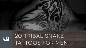 20 tribal snake tattoos for men youtube