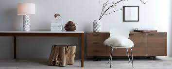 white and wood furniture crate and barrel