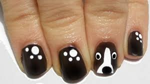 tutorial easy dog nail art youtube