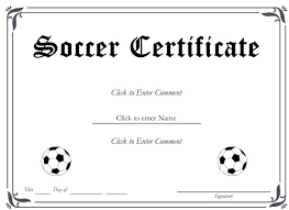soccer certificate templates for word certificate templates