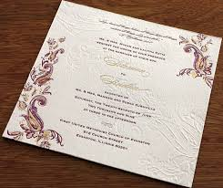 wedding card india 4 new indian wedding card designs letterpress foil blind