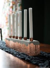 diy cement copper candle centerpiece aran sweaters direct the finished piece diy cement copper candle centerpiece diy copper home