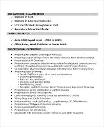 Cad Designer Resume Autocad Resume Template 8 Free Word Pdf Document Downloads