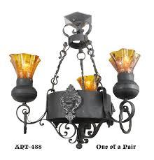 Gothic Chandelier Wrought Iron Vintage Hardware U0026 Lighting Gothic Victorian Wrought Iron Lion