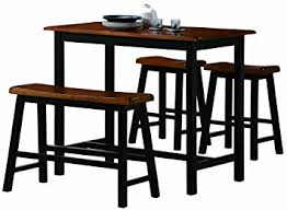 pub height table and chairs amazon com crown mark tyler 4 piece counter height table set