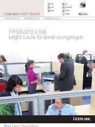 lexmark x466de brochure printer computing usb flash drive