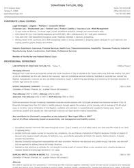 Award Winning Resume Examples by Legal Resume Samples
