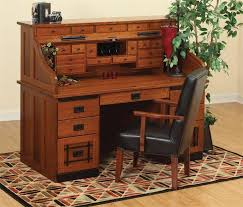 Small Roll Top Computer Desk Standard Mission Roll Top Desk With Top Drawers
