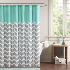 Teal Colored Shower Curtains Bathroom Intelligent Design Id70 365 Shower Curtain