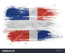 Dominican Republic Flags Dominican Republic Flag On White Background Stock Photo 132053867