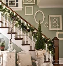 Banister Garland Ideas A Whole Bunch Of Christmas Staircase Decorating Ideas U2014 Style Estate