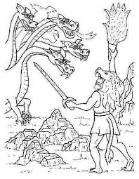 hercules coloring page greek mythology greek mythology story of fighting the lernean