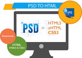 html header design online psd to html web design and development and seo