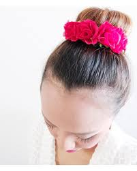 bun accessories get the deal smaller size hot pink adjustable bun wrap