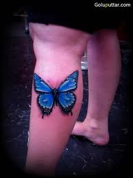 stunning blue butterfly on calf photos and ideas