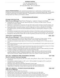 Sales Professional Resume Cosmetics Sales Resume Free Resume Example And Writing Download