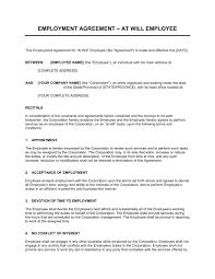 employment agreement key employee template u0026 sample form