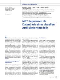 PDF MRT sequences as a database for a visual articulatory model