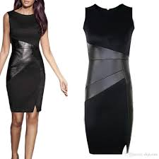 s5q womens ol black bodycons sleeveless work party evening