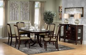 thoreaux 7 piece dining room set dark cherry leon u0027s