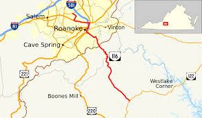 Virginia Map Virginia State Map Virginia State Road Map by Virginia State Route 116 Wikipedia
