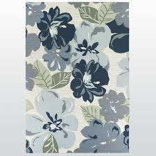 Indoor Outdoor Rug Florecer Denim Floral Indoor Outdoor Rugs