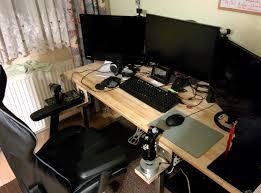 Diy Gaming Desk by Custom Build Gaming Desk Fps Hotas Hybrid Star Citizen