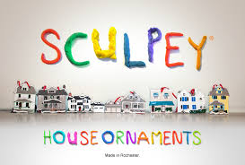 rochestersubway sculpey house ornaments