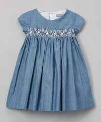 look what i found on zulily navy blue denim smocked dress