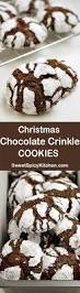 christmas chocolate crinkle cookies sweet spicy kitchen