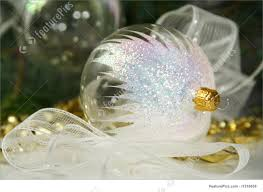 picture of transparent christmas ornaments