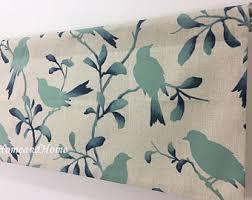 Teal Bird Curtains Bird Valance Etsy
