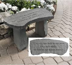 Commemorative Benches Those We Have Held In Our Arms Memorial Bench