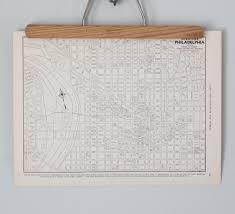 Pennsylvania City Map by Philadelphia 1930s Map Antique Pennsylvania City Map