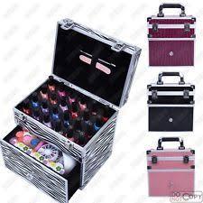 60 Piece Vanity Case Nail Varnish Case Ebay