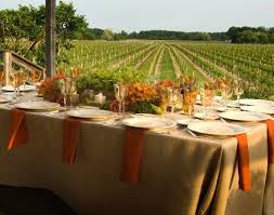 table setting for a fall wedding lovetoknow