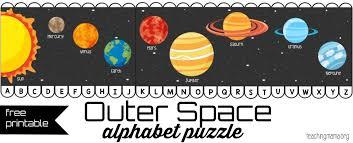 outer space alphabet puzzle