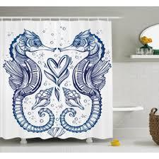 Seahorse Shower Curtain Valentine U0027s Day Shower Curtains You U0027ll Love Wayfair