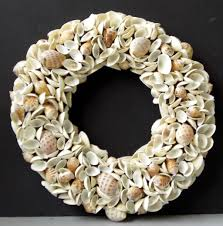 home decoration adorable small seashell wreath ideas beautiful