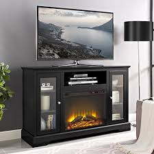 Tv Stand With Fireplace Walker Edison Furniture Company 52 In Highboy Fireplace Wood Tv